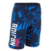 Modre plavalne kratke hlače 100 za dečke