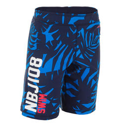 NBJI 100 BOY'S LONG SWIM SHORTS - ALL LIA BLUE