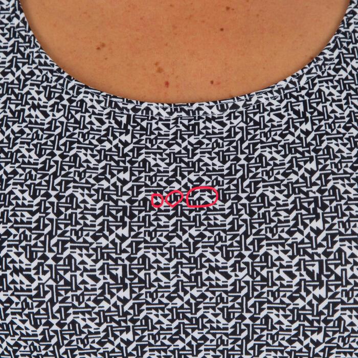 Bañador Completo Camiseta Natación Piscina Nabaiji Mujer Pantalón Corto Mosaico