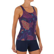 Women swimming costume tankini Loran - Printed Purple