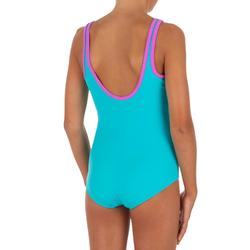 Bañador de natación una pieza para niña Heva+ Rêve Azul