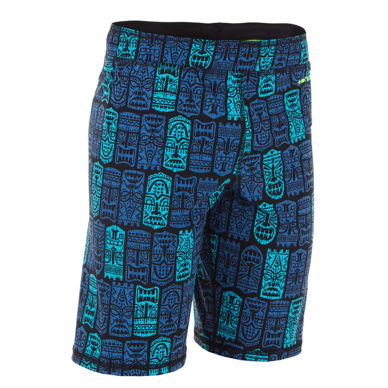 BOY'S SWIMSUITS Swimming - BOYS' LONG SWIM SHORTS - TIKI NABAIJI - Swimwear