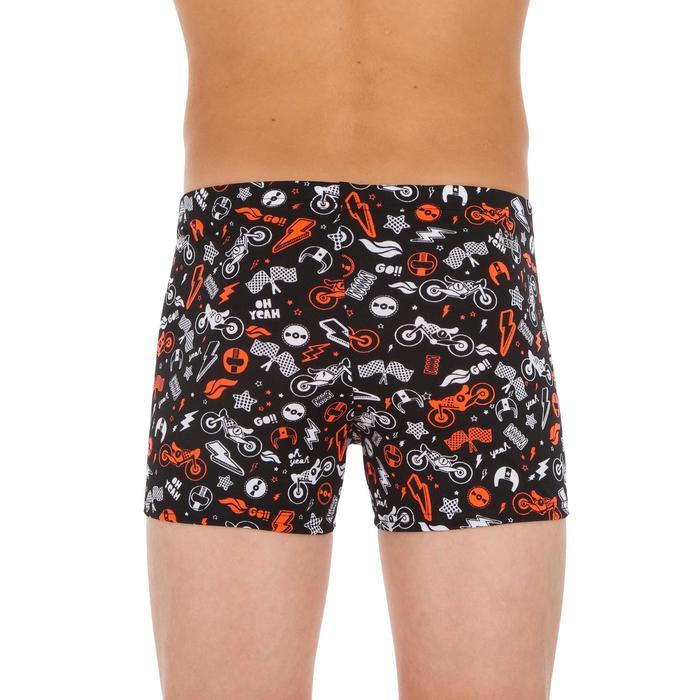 Badehose Boxer 500 Fit All Mobou Jungen orange/schwarz