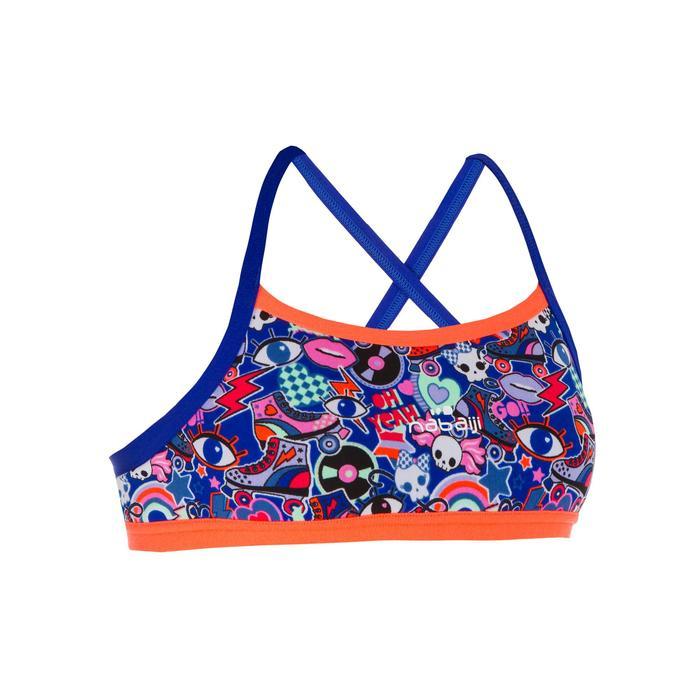 fd5256b3b08d Top Deportivo Bikini Niña Piscina Natación Nabaiji Jade Rosa/Azul ...