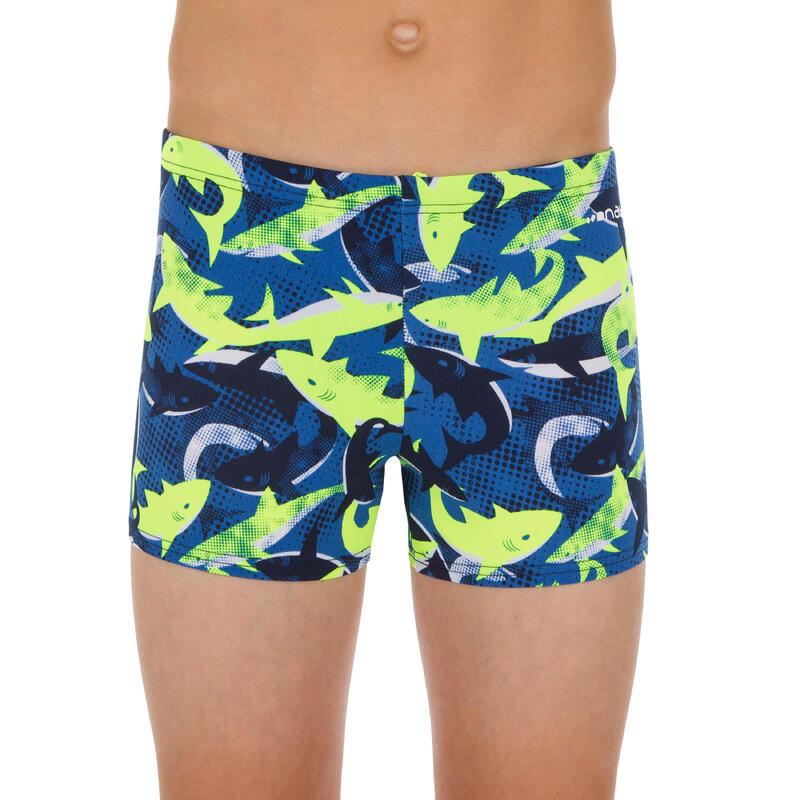 Bañador Bóxer Natación Fitib All Shark Niño Amarillo Azul