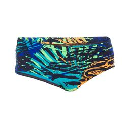 Brede zwemslip heren 900 All Jun marineblauw