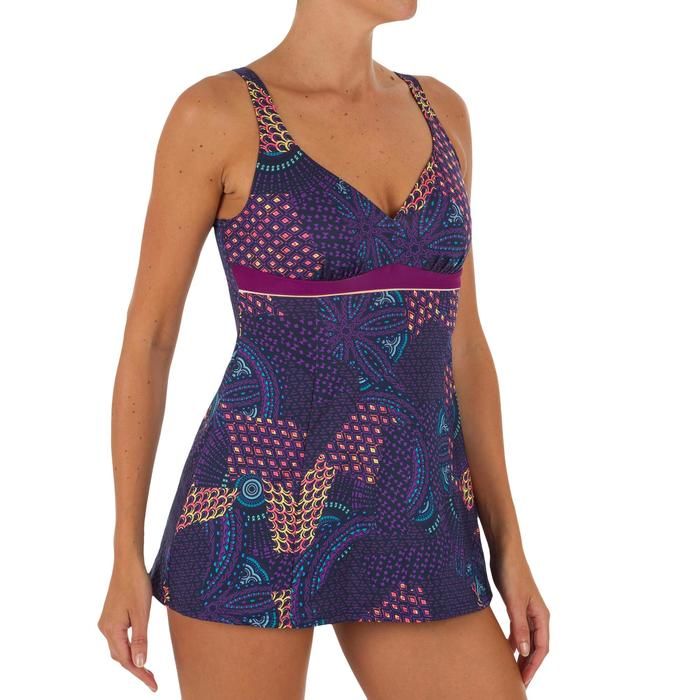 Badeanzug Kaipearl Rock figurformend Damen Rock violett