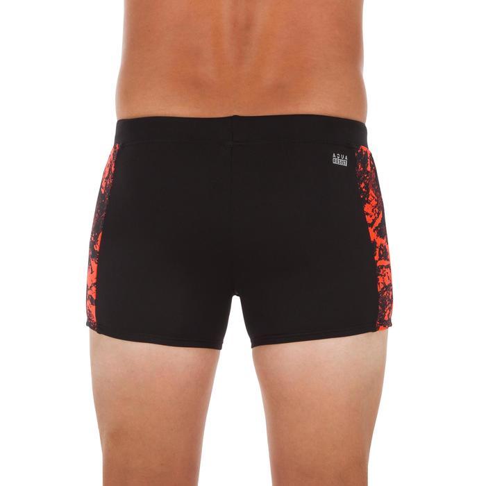 Badehose Boxer 500 Yoke Allwalo Herren schwarz/orange