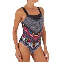 735cd34dd Bañador Natación Piscina Nabaiji Tais Mujer Espalda H Top Incorporado  Estampado