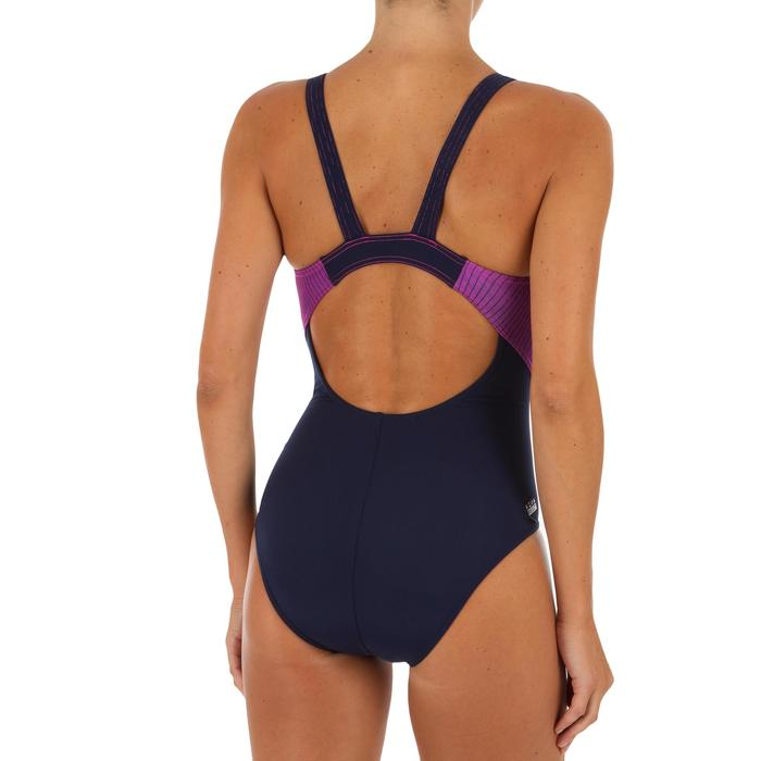 Bañador de natación una pieza mujer resistente al cloro Kamiye gradación rosa