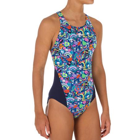 Kamiye Girls Chlorine-Resistant One-Piece Swimsuit - Roller