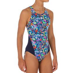 Maillot de bain de natation une pièce fille résistant au chlore Kamiye roller