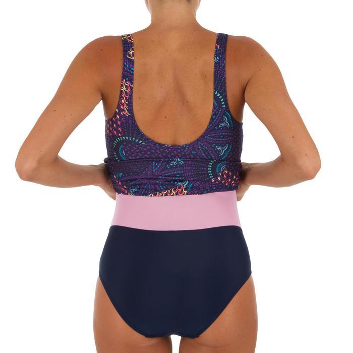 Bañador de natación moldeador una pieza para mujer Kaipearl faldita eve violeta