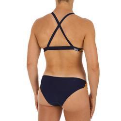 Top Bikini Natación Piscina Nabaiji Jana Rock Mujer Ultra Resistente Azul Marino