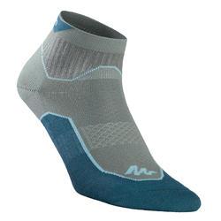 Sokken voor wandelen in de natuur NH500 mid - donkerkaki 2 paar