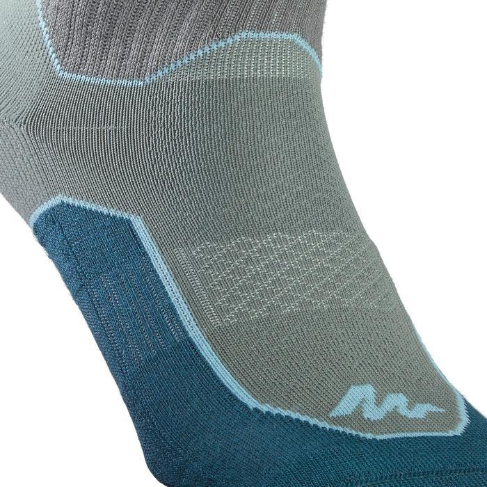 Calcetines de senderismo naturaleza NH500 Media caña caqui oscuro x 2 pares