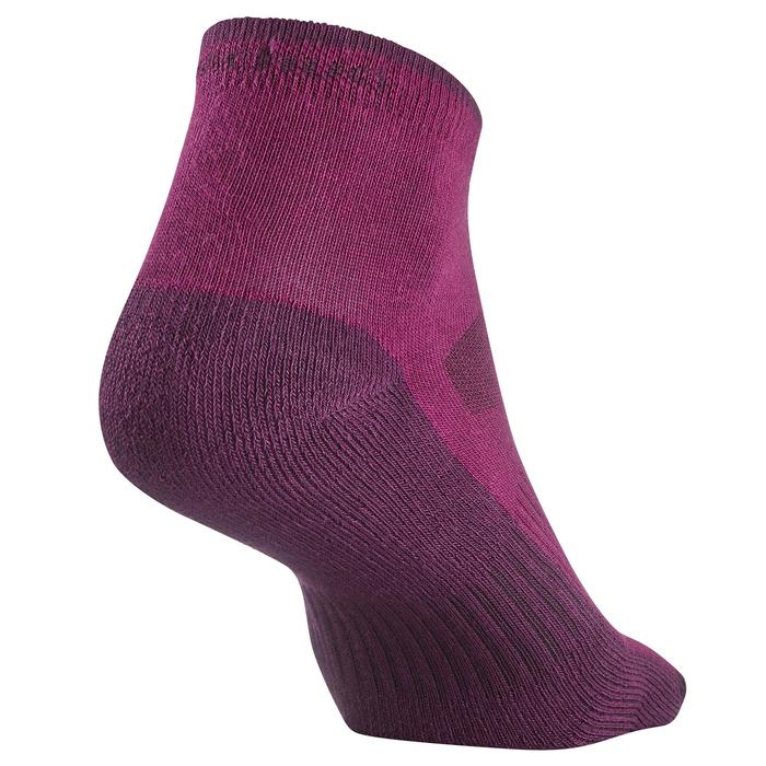 Chaussettes randonnée nature NH100 Mid violet X 2 paires