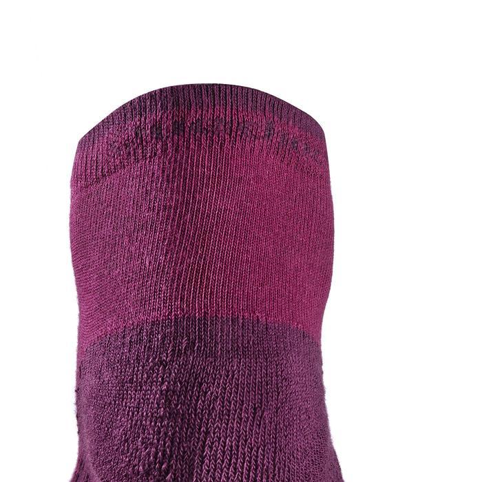 Sokken voor wandelen in de natuur - NH100 mid - paars 2 paar