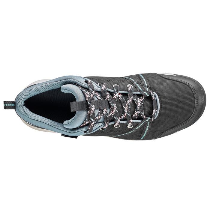 Zapatillas de montaña y senderismo impermeables NH150 Protect gris mujer