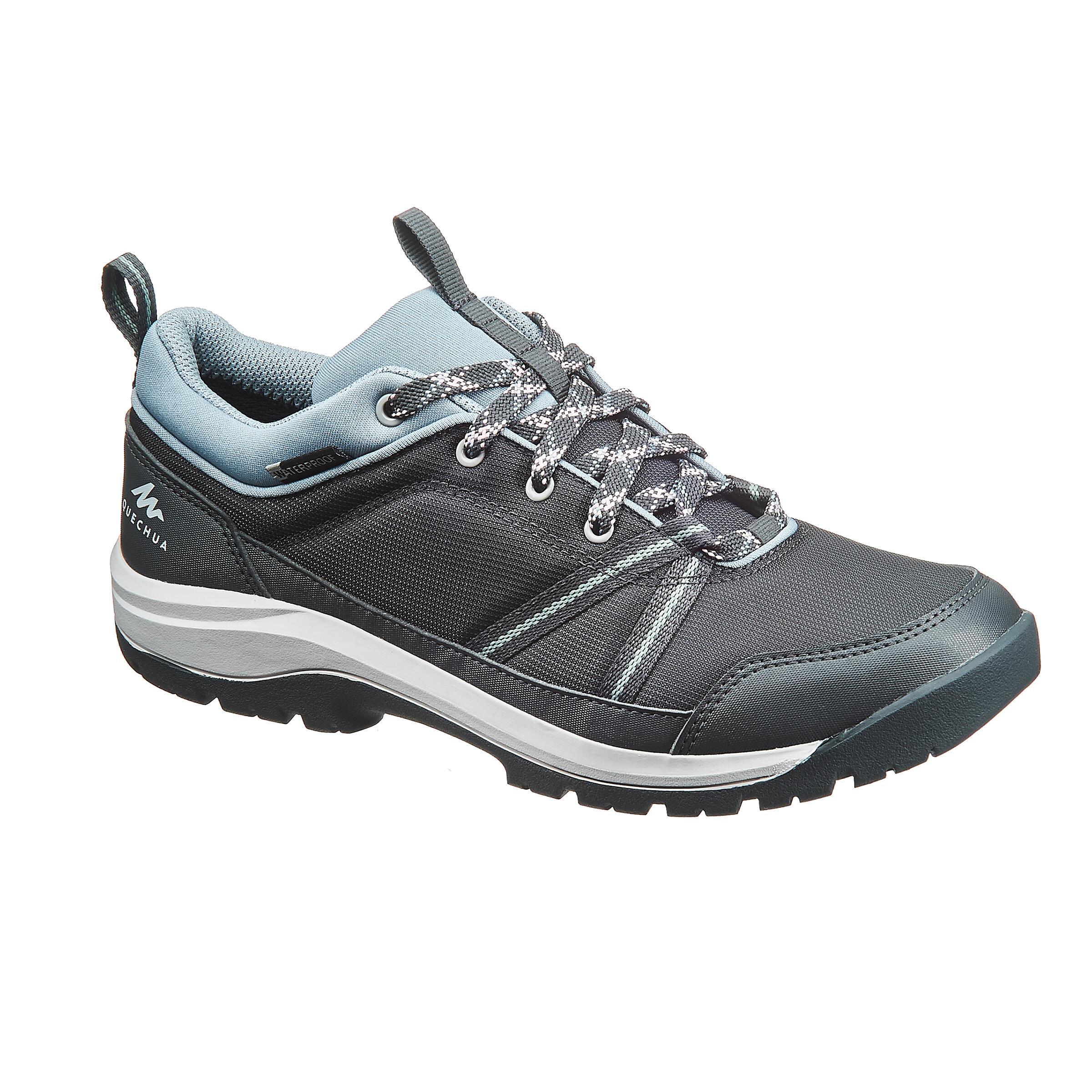 Wanderschuhe NH 150 Protect Damen grau für Naturwanderungen | Schuhe > Outdoorschuhe > Wanderschuhe | Grau | Gummi - Baumwolle | Quechua