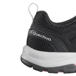 Zapatillas de MONTAÑA Y SENDERISMO NH500 Fresh negro mujer