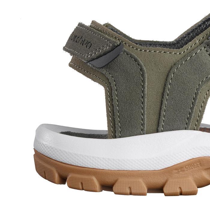 Sandales de randonnée nature NH120 kaki marron homme