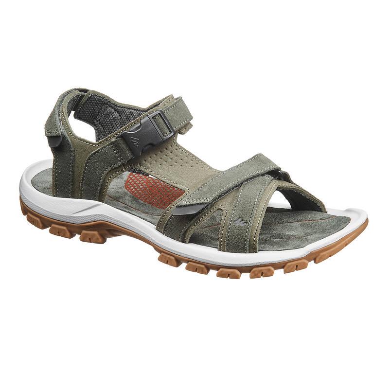 PÁNSKÉ SANDÁLY DO TEPLÉHO POČASÍ Turistika - Sandály NH 120 khaki QUECHUA - Turistická obuv