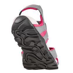 Wandelsandalen voor dames NH100 grijs/roze