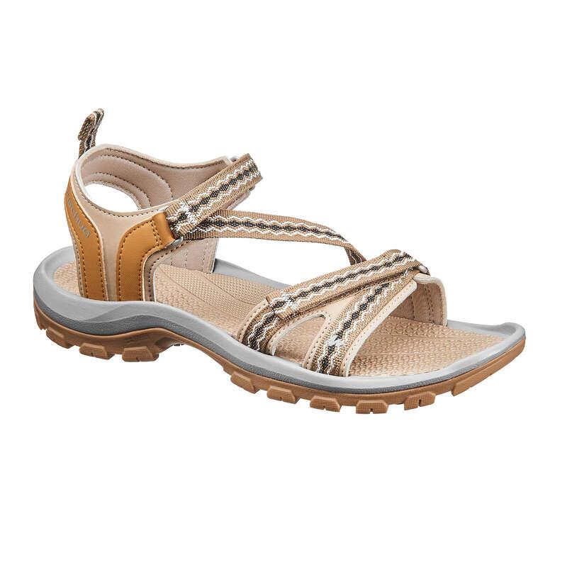 WOMEN HIKING SANDALS/SHOES WARM WEAT - NH110 Womens Walking Sandals - Beige