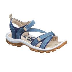 Sandales de randonnée nature NH120 cuir bleu femme