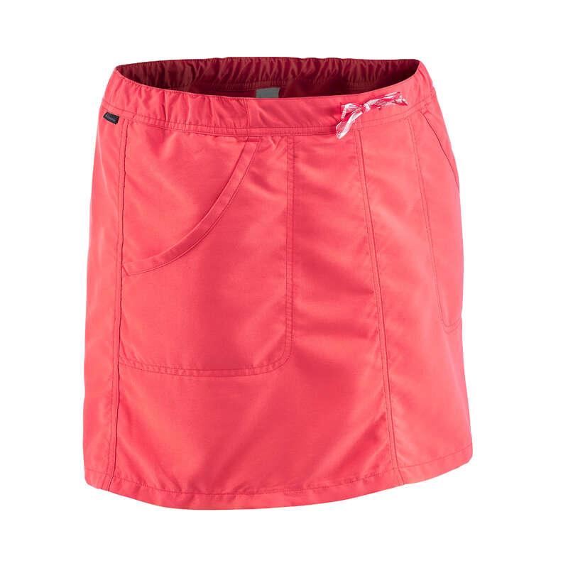 WOMEN NATURE HIKING SHORTS/TANK TOPS Hiking - NH100 Women's - Pink QUECHUA - Hiking Clothes