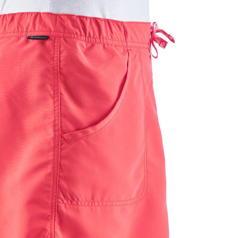 Falda-short senderismo naturaleza NH100 rosa mujer