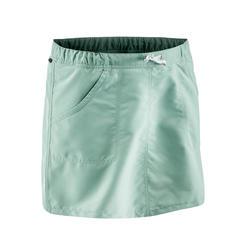 Falda-short senderismo naturaleza NH100 verde grisáceo mujer
