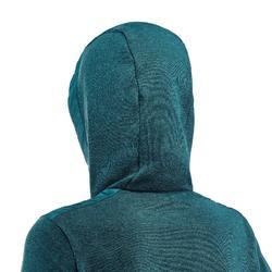 Casaco de caminhada - NH100 Híbrido - Mulher Cinzento Azul