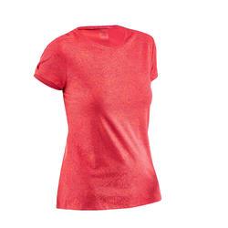 Dames T-shirt wandelen in de natuur NH500 framboos