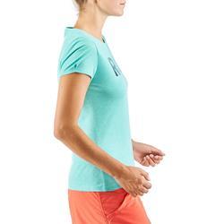 Tee shirt randonnée nature NH500 turquoise femme