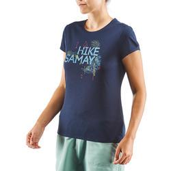 Tee shirt randonnée nature NH500 marine femme