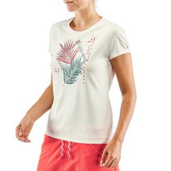 T-shirt voor natuurwandelen en hiking NH500 wit dames