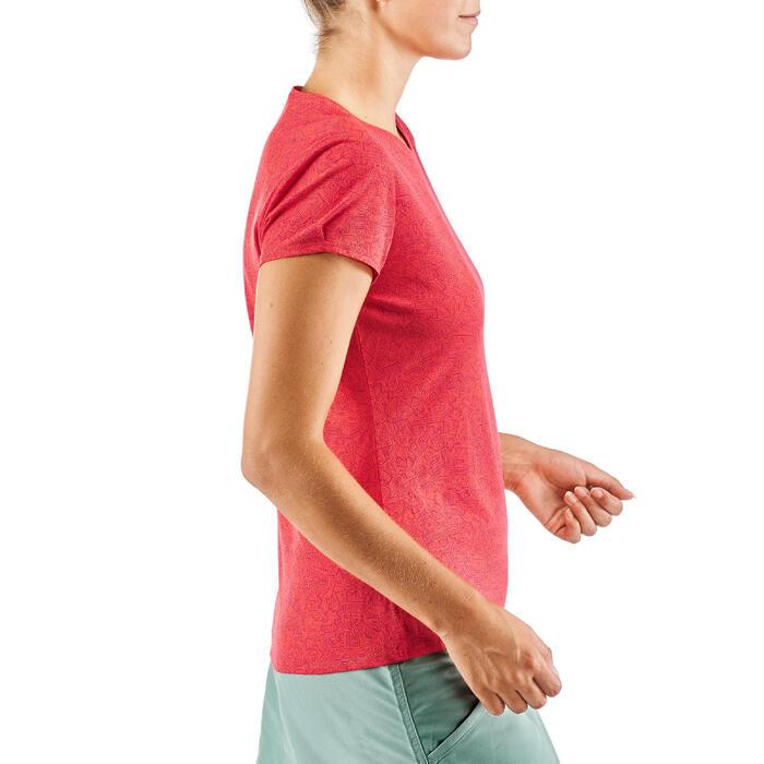 Camiseta senderismo naturaleza NH500 frambuesa mujer