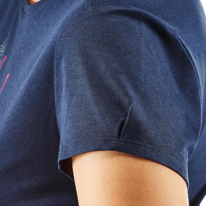 Wandershirt Naturwandern NH500 Damen marineblau