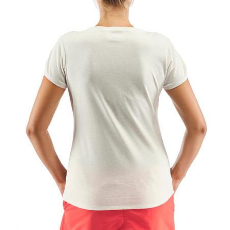 Camiseta senderismo naturaleza NH500 blanco mujer
