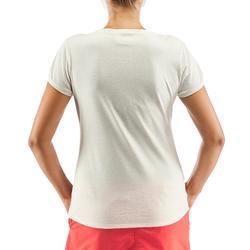 Tee shirt randonnée nature NH500 blanc femme