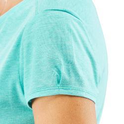 Dames T-shirt wandelen in de natuur NH500 turquoise