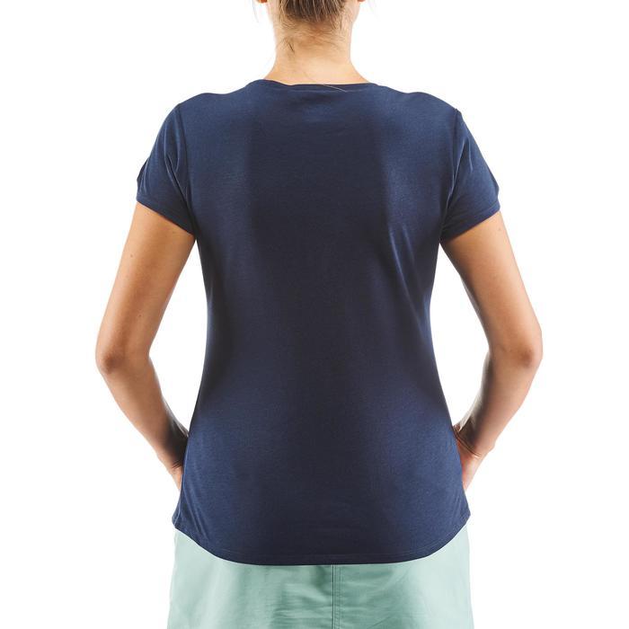 女款鄉村健行T恤NH500 -軍藍色