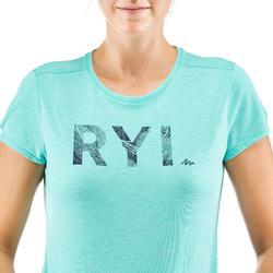 Wandershirt T-Shirt Naturwandern NH500 Damen türkis