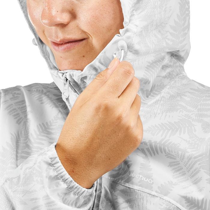 Impermeable senderismo naturaleza mujer Raincut cremallera blanco