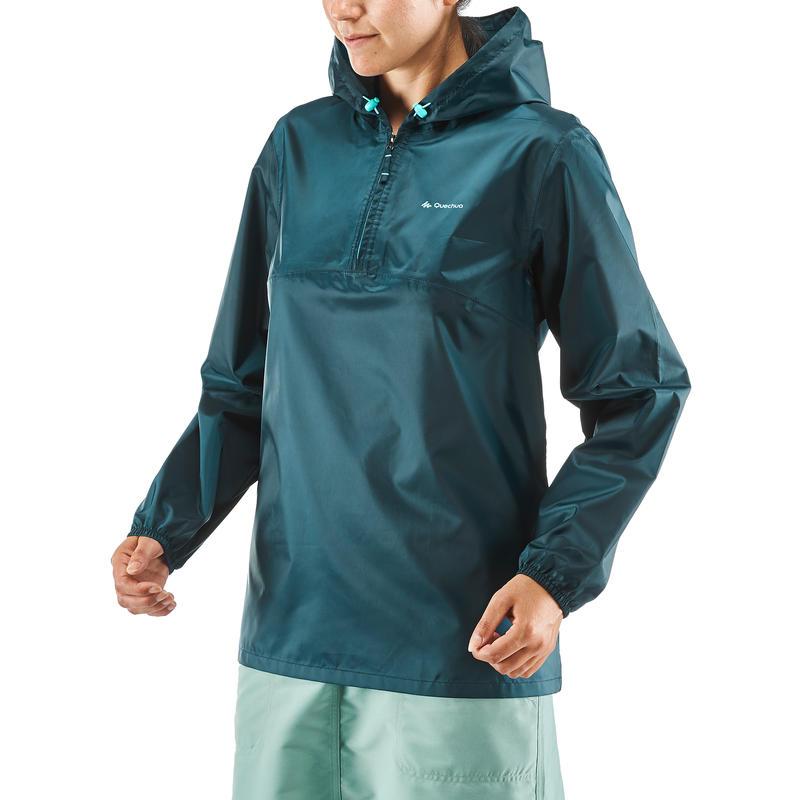 Women's half-zip hiking rain jacket - NH100