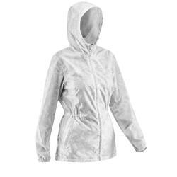 Coupe-pluie Imperméable randonnée nature NH100 Raincut glissière blanc femme
