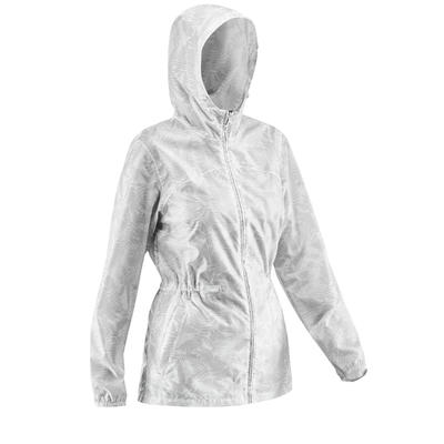Women's waterproof hiking jacket _PIPE_ Raincut NH100 zip
