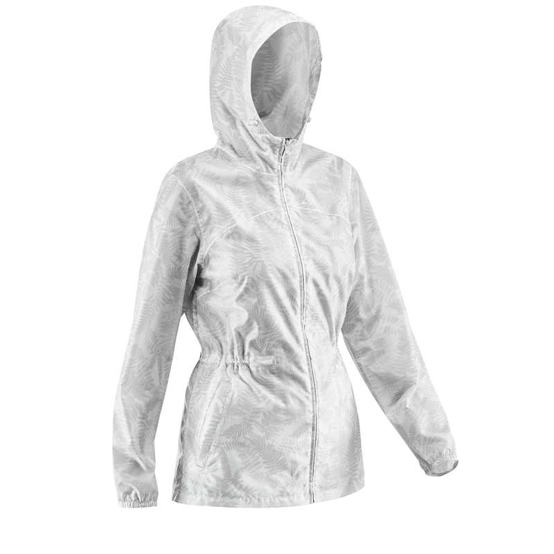 Wanderjacken Damen Naturwandern Damenbekleidung - Regenjacke NH100 Raincut Zip QUECHUA - Oberbekleidung Damen
